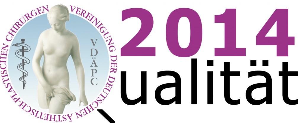 2014 Qualitätslogo Vereinigung der Deutschen Ästhetisch-Plastischen Chirurgen